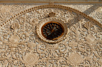 Intricate work on the exterior walls of the Tabatabaei house of Kashan, Iran