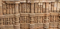 One of the many walls of Erotica at Konark Sun Temple, Odisha