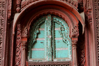 Ornately carved window on a haveli in Bikaner, Rajasthan, India