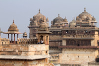 Beautiful Indo-Mughal architecture of Jehangir Mahal, Orchha
