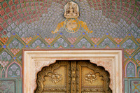 Door inside city palace of Jaipur that signifies Spring season