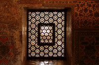 Window inside Akbar's Tomb, Sikandra, Agra