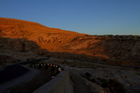 Sunset colors on the Petra Highway, Jordan