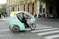 Pedicab on the streets of Paris - popular with tourists