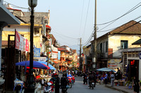 The business district of Sapa, Vietnam