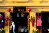 Clothes and tailoring can be seen everywhere in Hoi An, Vietnam