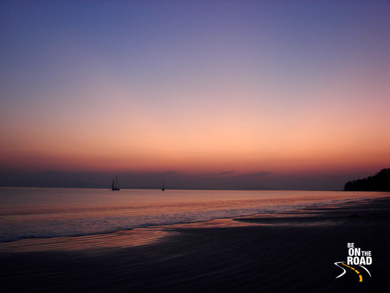 A postcard view of sunset at Radhanagar Beach, Havelock Island, India