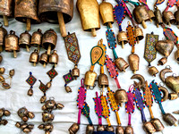 Scrap metal turned into amazing bells at Nirona, Kutch