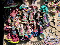 Colorful handmade toys of Kutch