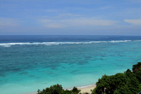 The lovely southern coast of Bali as seen from Nusa Dua