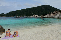 Enjoying the turqouise waters and white sands of Koh Nang Yuan, Thailand