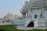Exquisitely carved White Temple at Chiang Rai, Thailand