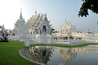 Beautiful architecture of Chiang Rai White Temple, Thailand