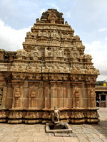 Side view of Bhoga Nandeeswara Temple