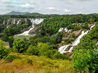 The beautiful Barachukki Falls on the Cauvery river