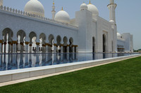 Entering the Sheikh Zayed Grand Mosque of Abu Dhabi