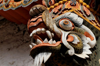Mythological creature at Punakha Dzong, Bhutan