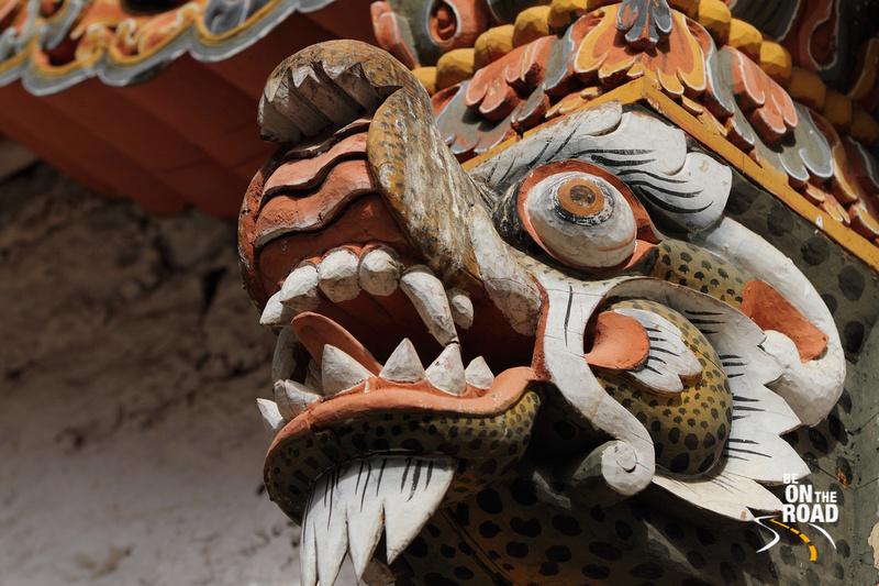 Mythological creature at Punakha Dzong, Bhutan