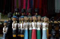 Statues of Long Necked Karen Tribal Woman