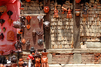 Small souvenir shop at Bhaktapur Heritage Zone