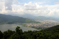 Sensational Pokhara view from World Peace Pagoda