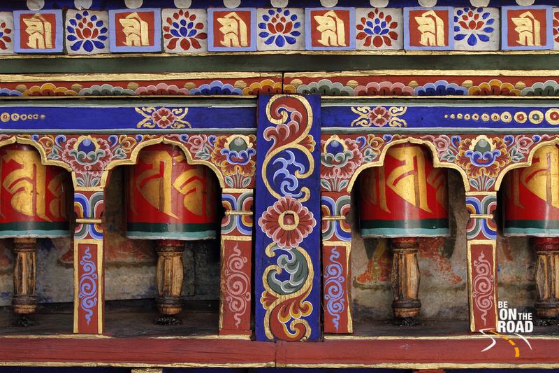 Prayer Wheels at the beautiful Kyichu Lakhang Temple