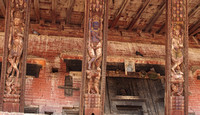 Kamasutra portrayed on the wooden work of Bhaktapur Temples