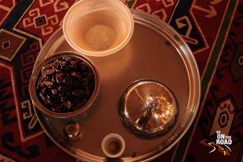 Guests are welcomed with dates and Quewah coffee in Oman