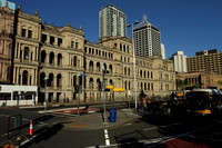 A Brisbane CBD street moment with the Treasury building in the background