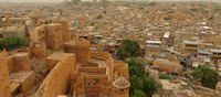 Jaisalmer view from on top of the fort
