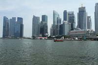 Singapore Downtown from on the bay