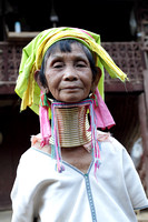 An Elderly Long Necked Karen Tribal Women from Thailand