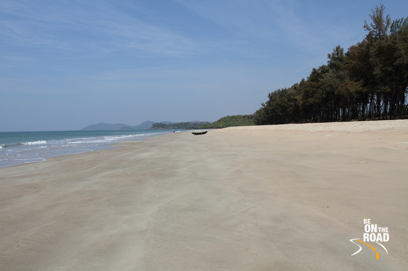 The silversands of Galgibaga Beach, South Goa