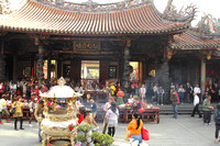 Evening prayer scene at Longshan Temple, Taipei