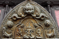 Beautiful metal carving at the Patan Palace