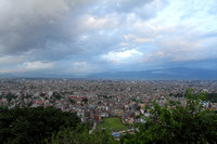Kathmandu valley view from monkey temple