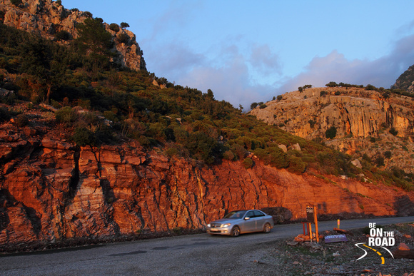 Sunset shines on the mountains around the Lycian Way