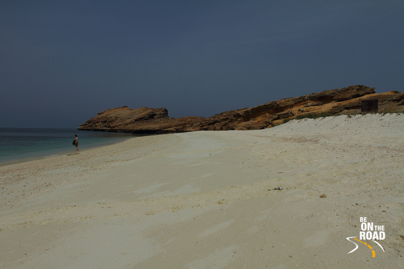 Soft White sands of the beaches of Damaniyat Islands, Oman