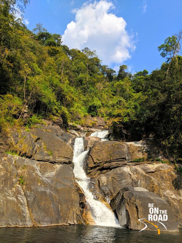 Meenmutty waterfall inside Peppara Wildlife Sanctuary, Kerala
