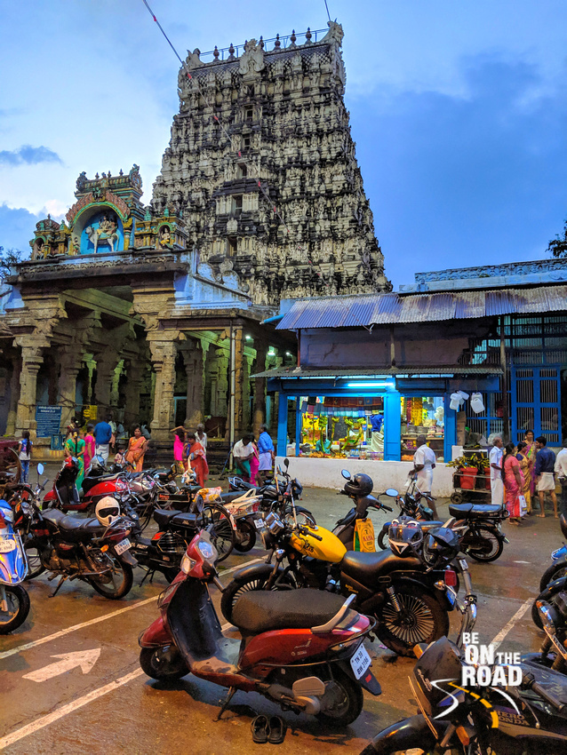 At the Papanasam Shiva temple, Tamil Nadu