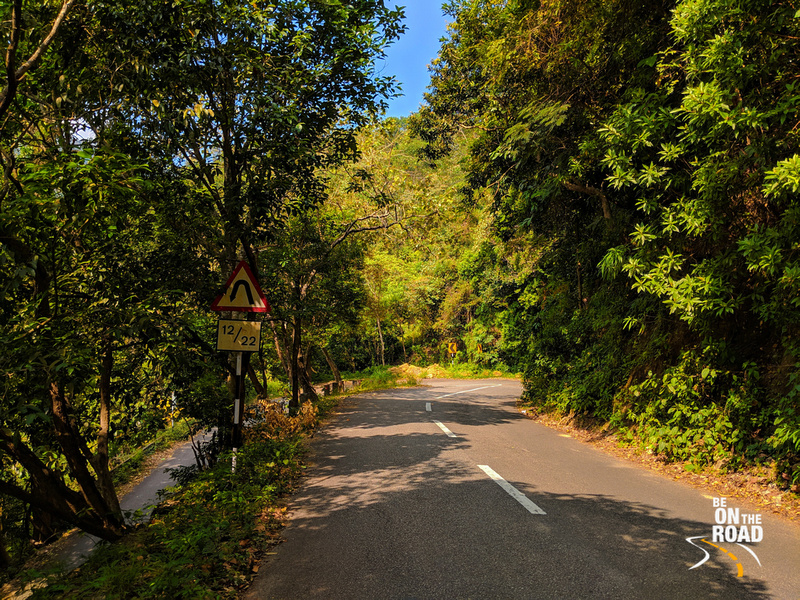 The beautiful ghats roads leading to Ponmudi hill station, Kerala