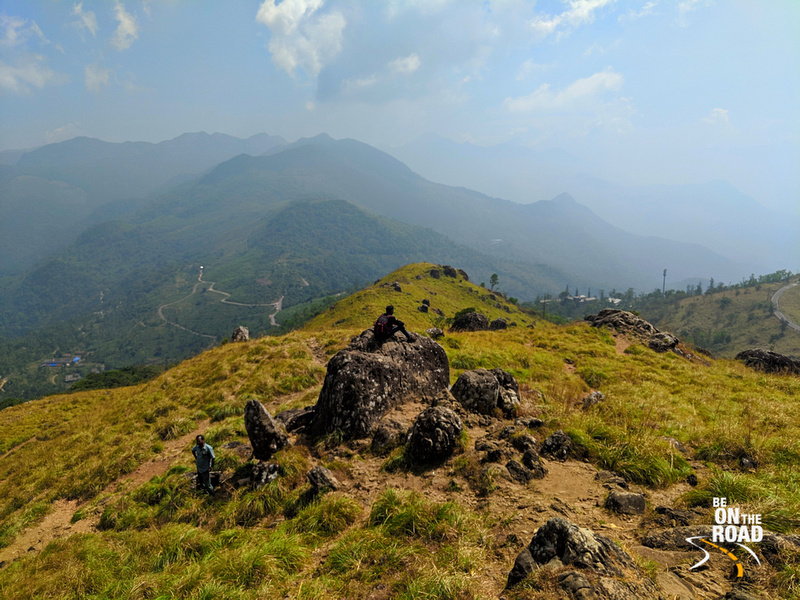 Enjoying the mountain panorama at Ponmudi, Kerala