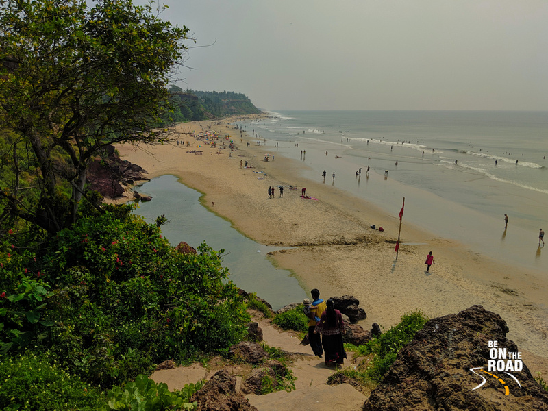 Taking a walk on the scenic Varkala cliff beach in South Kerala