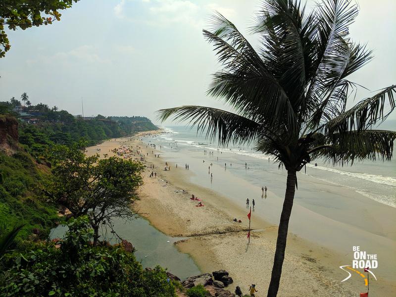 The Papanasam beach at Varkala, Kerala