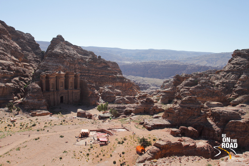 Petra monastery carved out of rocky mountains, Jordan