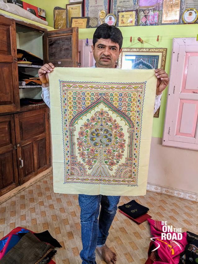Rogan art - the art form kept alive by the Khatri family