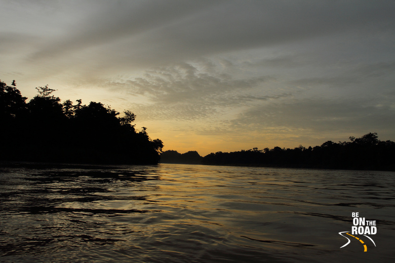 Evening skyscape from Kinabatangan river, Malaysia