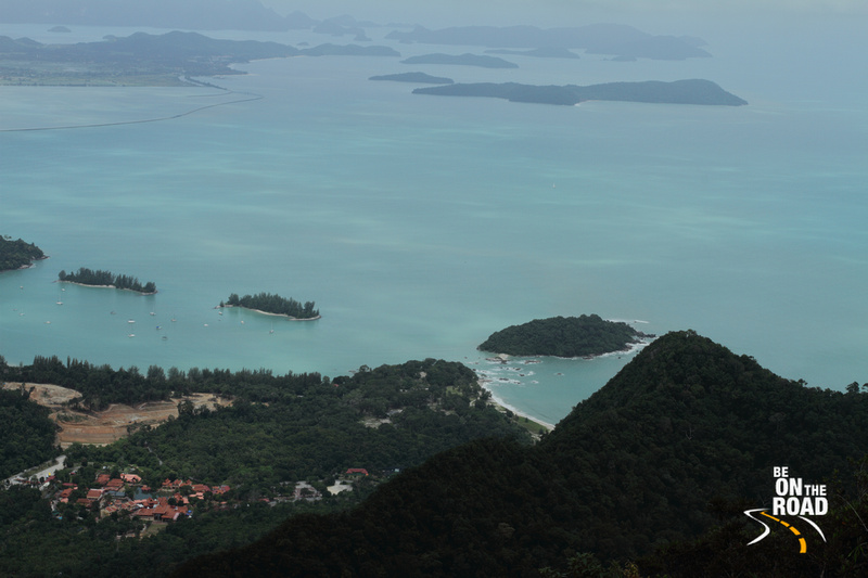 Coastline seen from island top, Langkawi, Malaysia