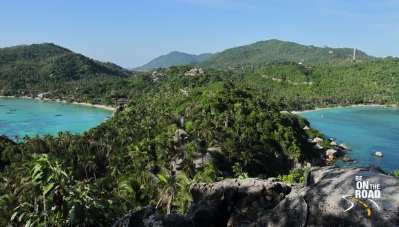 View from the John Suwan view point of Koh Tao, Thailand