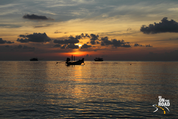 A gorgeous sunset from Sairee beach, Koh Tao, Thailand